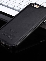 iphone 7 mais o novo couro de luxo para trás e caixa do telefone armação de metal para iPhone 5 / 5s