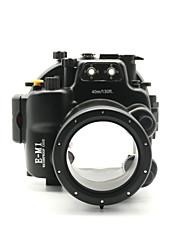 caso de mergulho à prova d'água à prova de choque câmera ou habitação para olympus em1 com um aparelho de alarme