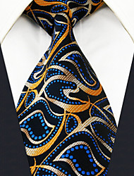 Men's Tie Navy Blue  Paisley 100% Silk  Casual  Dress