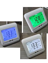 Европейский тип программирования отопление термостат с сенсорным экраном ЖК-дисплей прочного температуры