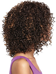 New Stylish Black Women Natural Healthy Hair Deep Curly Mix Color Synthetic Wigs