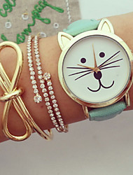Women Watches, Kitty Watch, Cat Watch,Vintage Leather Watch, Jewelry Handmade, Bracelet  Wrist Watch