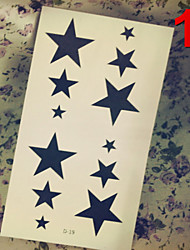 Airbrush Tattoos Stickers Non Toxic Glitter Waterproof Multicolored Glitter 1 Package