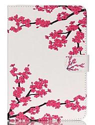 fleur de prunier en cuir Folio Stand cas de couverture avec support pour iPad mini-3/2/1