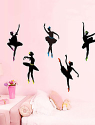 Ballet Cartoon Character Stickers Wall