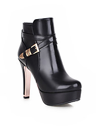 Women's Shoes Synthetic Stiletto Heel Fashion Boots / Basic Pump Boots Outdoor / Office & Career / Casual Black