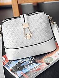 Women PU Casual / Office & Career Shoulder Bag White / Black