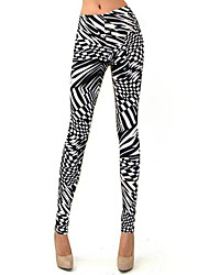 Women's Print Black Skinny Pants , Sexy