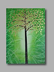 """bereit, gestreckten handgemalte Ölgemälde 36 """"x24"""" auf Leinwand Wandkunst abstrakte Schweröle grüne goldene Blüte hängen"""