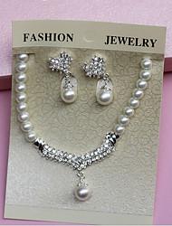 Women's Imitation Pearl / Alloy Jewelry Set Imitation Pearl / Rhinestone