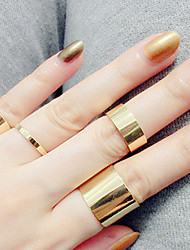 Circle Golden Open Ring Set Midi Rings(4pcs)