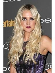 Long Curly Hair European Weave Light Blonde Hair Wig