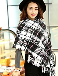 Women Luxury Fashion Plaid Oversized Cashmere Winter Neck Warm Scarf Blanket Scarf Female Shawls and Scarves Tippet