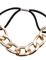 European Style Metal Chain Wild Hair Ties