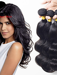 1bundles color natural de la onda del cuerpo del pelo malasio 8-26inch cabello humano virginal teje