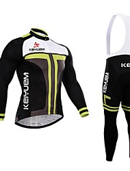 KEIYUEM® Cycling Jersey with Bib Tights Men's Long SleeveWaterproof / Breathable / Quick Dry / Windproof / Insulated / Rain-Proof / Dust