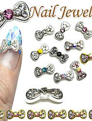 Милый - Стразы для ногтей - 10pcs - 1*0.5 - Металл - Пальцы рук