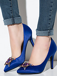 Women's Shoes Leather Stiletto Heel Heels Heels Wedding / Party & Evening / Dress Black / Blue / Red / White / Coral
