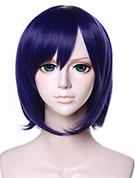 Colección de 12 pulgadas peluca cosplay púrpura qy-039