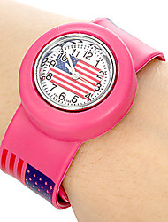 Kids US Pattern Stretch Band Mini Quartz Watch Cool Watches Unique Watches Strap Watch
