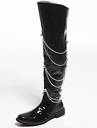 Men's Shoes Wedding / Outdoor / Office & Career / Party & Evening / Dress / Casual Synthetic / Glitter Boots Black