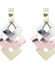 Hollow Diamond Metal Sheet Earrings Goddess Necessary