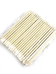 Nail Art Orange Wood Cuticle Pusher Remover Stick Wood 100 PCS