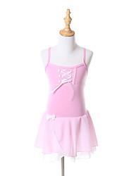 Tutus & Jupes / Robes(Rose / Jaune clair,Mousseline / Coton,Ballet / Spectacle)Ballet / Spectacle- pourEnfant Nœud papillonEntraînement /