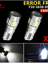 2 x canbus coin t10 blanc 192 168 194 W5W 6 5630 SMD LED erreur ampoule Free Light