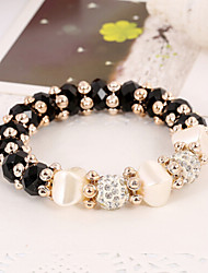 Women's Persona Beads Collection Bracelet Agate Crystal / Rhinestone
