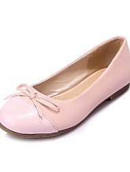 Girls' Shoes Outdoor / Party & Evening / Athletic / Dress / Casual Round Toe Leatherette Flats Blue / Pink / Almond