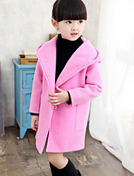 Girl's Pink / Red / Gray Jacket & Coat , Dresswear Wool Winter / Spring / Fall