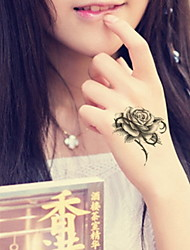 Flowers And Butterflies  Waterproof Flower Arm Temporary Tattoos Stickers Non Toxic Glitter