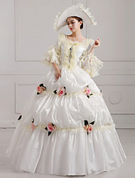 One-Piece/Dress Classic/Traditional Lolita Steampunk® / Victorian Cosplay Lolita Dress White Print / Vintage 3/4-Length Sleeve Long Length