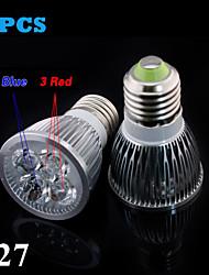 Decorativo Luci LED per la coltivazione , E26/E27 10 W 5 SMD 2835 100 LM Rosso / Blu AC 85-265 V
