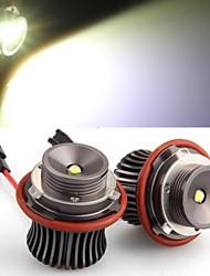 2 *H8 10W LED CREE Angel Eye Light White for BMW E39 E53 E65 E66 E60 E61 E63