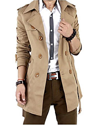 Men Autumn Trench Coat Men Double Breasted Trench Coat Men Outerwear Casual Coat Men's Jackets Windbreaker SOUH9