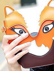 Для женщин Полиуретан На каждый день Сумка на плечо Оранжевый / Коричневый