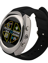 Stainless Steel Round Smart Watch Phone With Sim Card Slot and Multimedia
