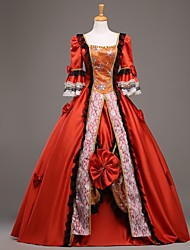 Steampunk®Top Sale Red Long Sleeves Princess Dress Victorian Party Dress Royal Wedding Prom Dresses