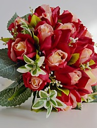 Bouquets ( Rose / Rouge , Satin / Coton / Soie ) Roses