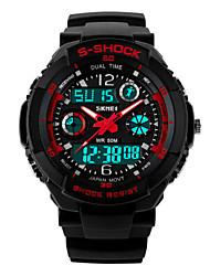 SKMEI 50 m imperméable à l'eau, le mouvement japon, double fuseau horaire, les montres de sport de plein air