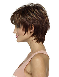 Fashion Lady Brown Short Hair Synthetic Wigs Hot Sale.