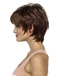 dama de la moda del pelo corto pelucas sintéticas marrones calientes de la venta.
