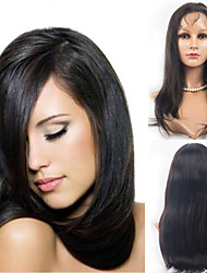 18inch Lace Front Hair Wig Indian Virgin Hair Straight Hair Wigs Celebrity Style Women Wigs