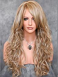 modelos de moda en Europa y América debe peluca de pelo largo
