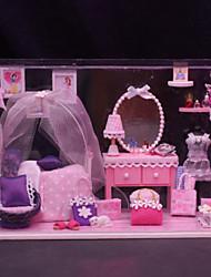 regalos creativos reunidos casa de ensueño modelo de sala de la princesa de la casa de muñecas de bricolaje bricolaje incluyendo toda