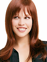 Natural Smooth Long Straight Virgin Remy Human Hair Hand Tied-Top Capless Woman's Wig