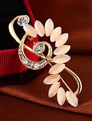 """Fashion Elegant """"Opal Music Breaks""""Full Rhinestone Alloy M's Brooch For Woman&Lady"""