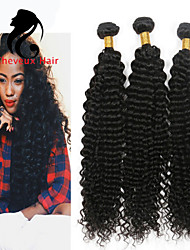 1bundles cabelo humano profundo onda cabelo malaio 8-26inch cor natural virgem tece